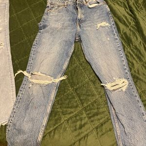 Zara mom jeans ripped fit